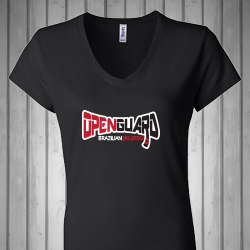 Open Guard BJJ Women's V-Neck Shirt