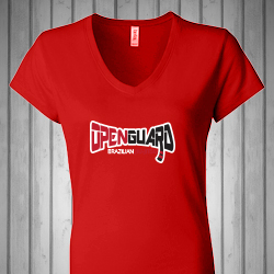 Open Guard BJJ Women's V-Neck Shirt